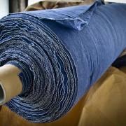 Modrá tkanina bavlněná